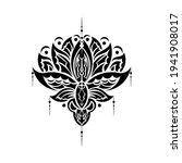 lotus flower  yoga or zen... | Shutterstock .eps vector #1941908017