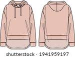 vector lounge hooded sweatshirt ... | Shutterstock .eps vector #1941959197