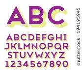 handmade sans serif font. bold... | Shutterstock .eps vector #194195945