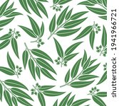 eucalyptus pattern background... | Shutterstock .eps vector #1941966721