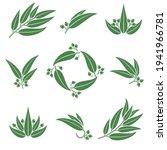eucalyptus set. collection icon ... | Shutterstock .eps vector #1941966781