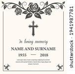 funeral card vector template ... | Shutterstock .eps vector #1941987781