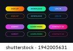 gradient web ui buttons. set of ...