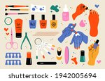 nail care doodle tools....   Shutterstock .eps vector #1942005694