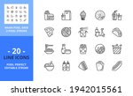 line icons about fast food.... | Shutterstock .eps vector #1942015561