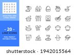 line icons about cooking....   Shutterstock .eps vector #1942015564