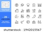 line icons about restaurant....   Shutterstock .eps vector #1942015567