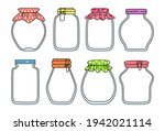 glass empty jar doodle set....   Shutterstock .eps vector #1942021114