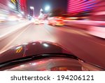 car on the road with motion... | Shutterstock . vector #194206121