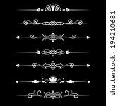 floral design elements vintage... | Shutterstock .eps vector #194210681