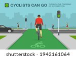 back view of cyclist on a...   Shutterstock .eps vector #1942161064