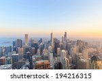 City Of Chicago. Aerial View O...