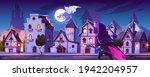ranger with magic spear hunt on ... | Shutterstock .eps vector #1942204957