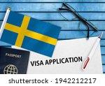 Visa Application Form And Flag...