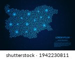 bulgaria map from point blue... | Shutterstock .eps vector #1942230811