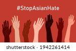 stop asian hate. horizontal... | Shutterstock .eps vector #1942261414
