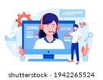 customer support concept.... | Shutterstock .eps vector #1942265524