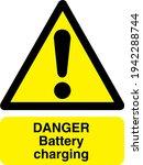 danger battery charging sign... | Shutterstock .eps vector #1942288744