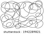 contour line drawing  free form ...   Shutterstock .eps vector #1942289821