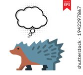 cute cartoon porcupine with...
