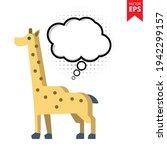 cute cartoon giraffe with...