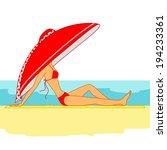 ha,bosquejo,baño de sol,tomar el sol,traje de baño,bronceado,vacaciones,mujer