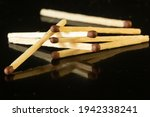 Wooden Matches With Brown With...