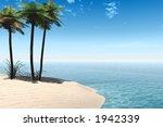 a tropical island | Shutterstock . vector #1942339