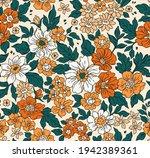 vintage seamless floral pattern....   Shutterstock .eps vector #1942389361