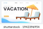 the landing page for a travel...   Shutterstock .eps vector #1942396954