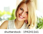 portrait of a smiling woman | Shutterstock . vector #194241161