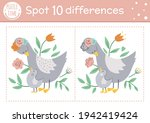 mothers day find differences... | Shutterstock .eps vector #1942419424