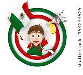 vector   mexico soccer fan flag ...   Shutterstock .eps vector #194244929