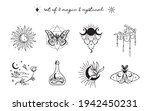collection of magic and... | Shutterstock .eps vector #1942450231
