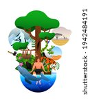 biodiversity tree with diverse... | Shutterstock .eps vector #1942484191