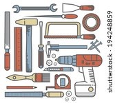flat tools   Shutterstock . vector #194248859
