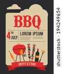 4th of july  bbq party...   Shutterstock .eps vector #194249654