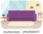 flat design interior. planning... | Shutterstock .eps vector #1942500547