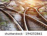 the way forward railway | Shutterstock . vector #194252861