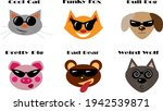 funny and cool animals wearing... | Shutterstock .eps vector #1942539871