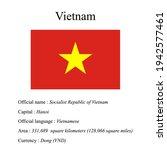 vietnam national flag  country...   Shutterstock .eps vector #1942577461