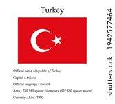 turkey national flag  country's ...   Shutterstock .eps vector #1942577464