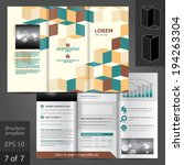 vector brochure template design ... | Shutterstock .eps vector #194263304