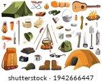 outdoor adventure set  camping...   Shutterstock .eps vector #1942666447