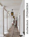 White Portico  Decorated...