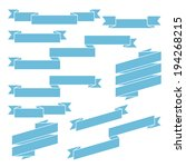 set of blue different ribbons   ... | Shutterstock . vector #194268215
