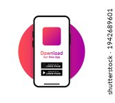 download our app advertising... | Shutterstock .eps vector #1942689601