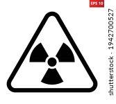 radioactive hazard sign.... | Shutterstock .eps vector #1942700527