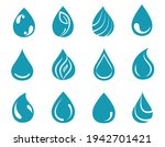 blue water drops icons set.... | Shutterstock .eps vector #1942701421