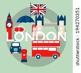 vector set of london symbols | Shutterstock .eps vector #194270351